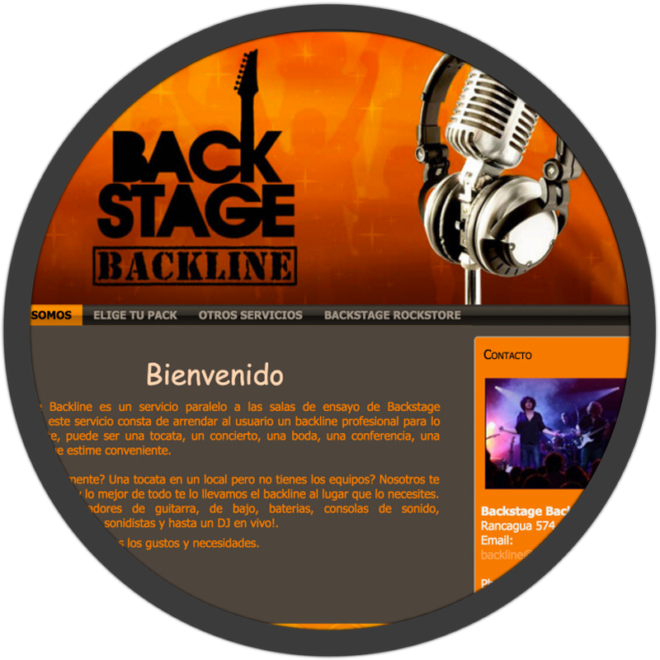 Backline website screenshot