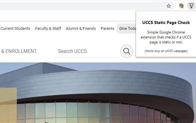 UCCS Static Page Check