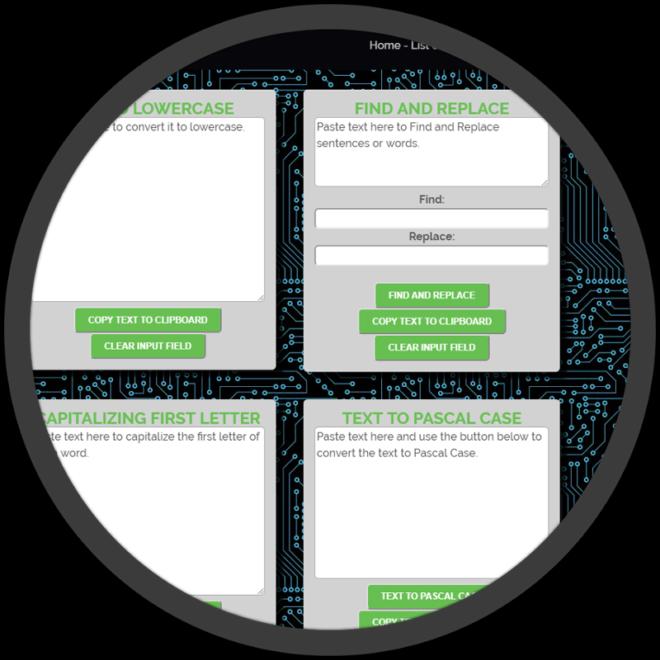 Free Web Tools website screenshot